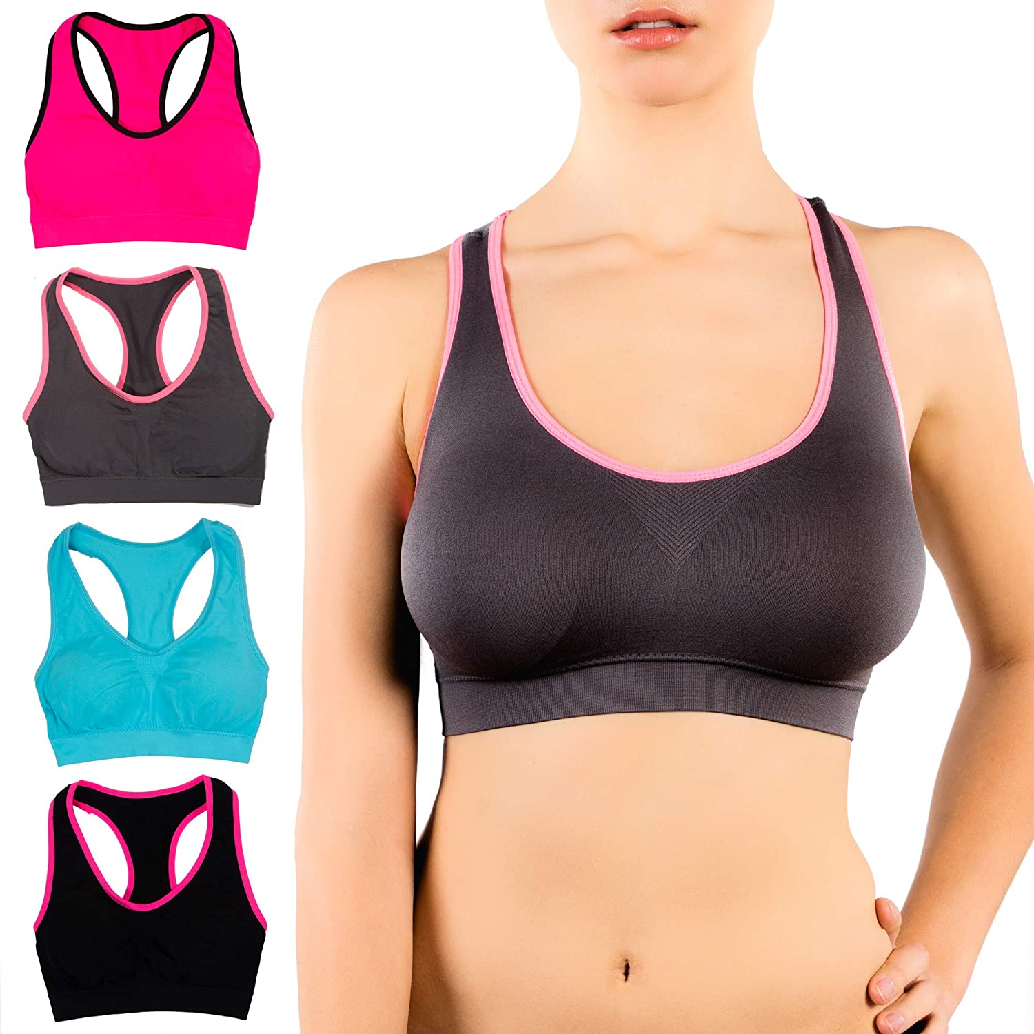 Alyce Athletics Womens Sports Bra Pack of 4