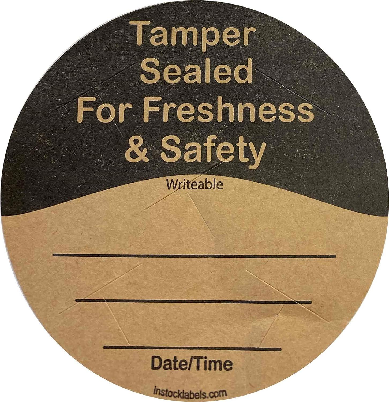 Natural Kraft Food Delivery Tamper Evident Labels Go Green 3
