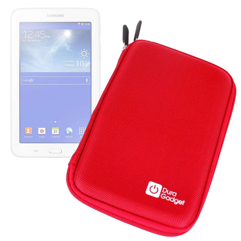 Duragadget Red 7 Shock Absorbing Hard Eva Shell Case Samsung Galaxy Tab 3 V 70 Inch T116nu For New Lite Ve Sm T113