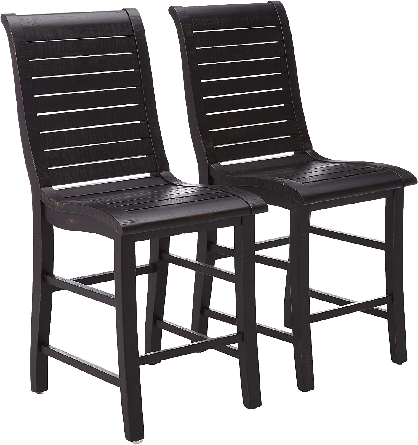 Progressive Furniture Willow Counter Chair (2/Ctn) Black