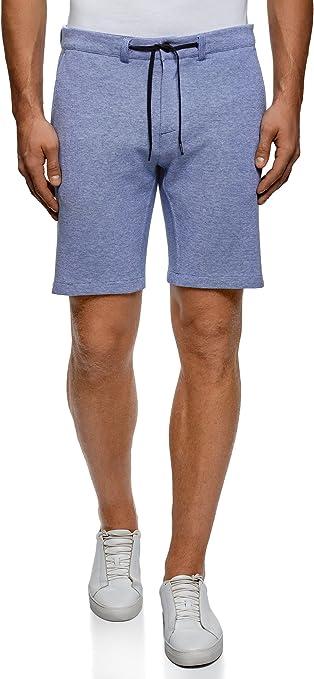 TALLA XS. oodji Ultra Hombre Pantalones Cortos de Punto con Cordones