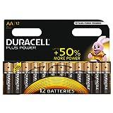 Duracell Plus Power Type AA Alkaline Batteries, Pack of 12