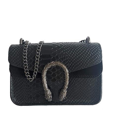 MASSIMA BARONI- Borsa da donna in pelle. Modello Portofino Mini. Borsa a  tracolla o tracolla. Un Gioiello Elegante 49bd3b83d6a