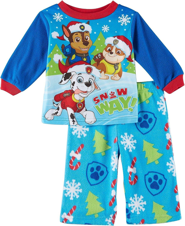 Nickelodeon Boys Paw Patrol Christmas Fleece Infant Pajamas ...