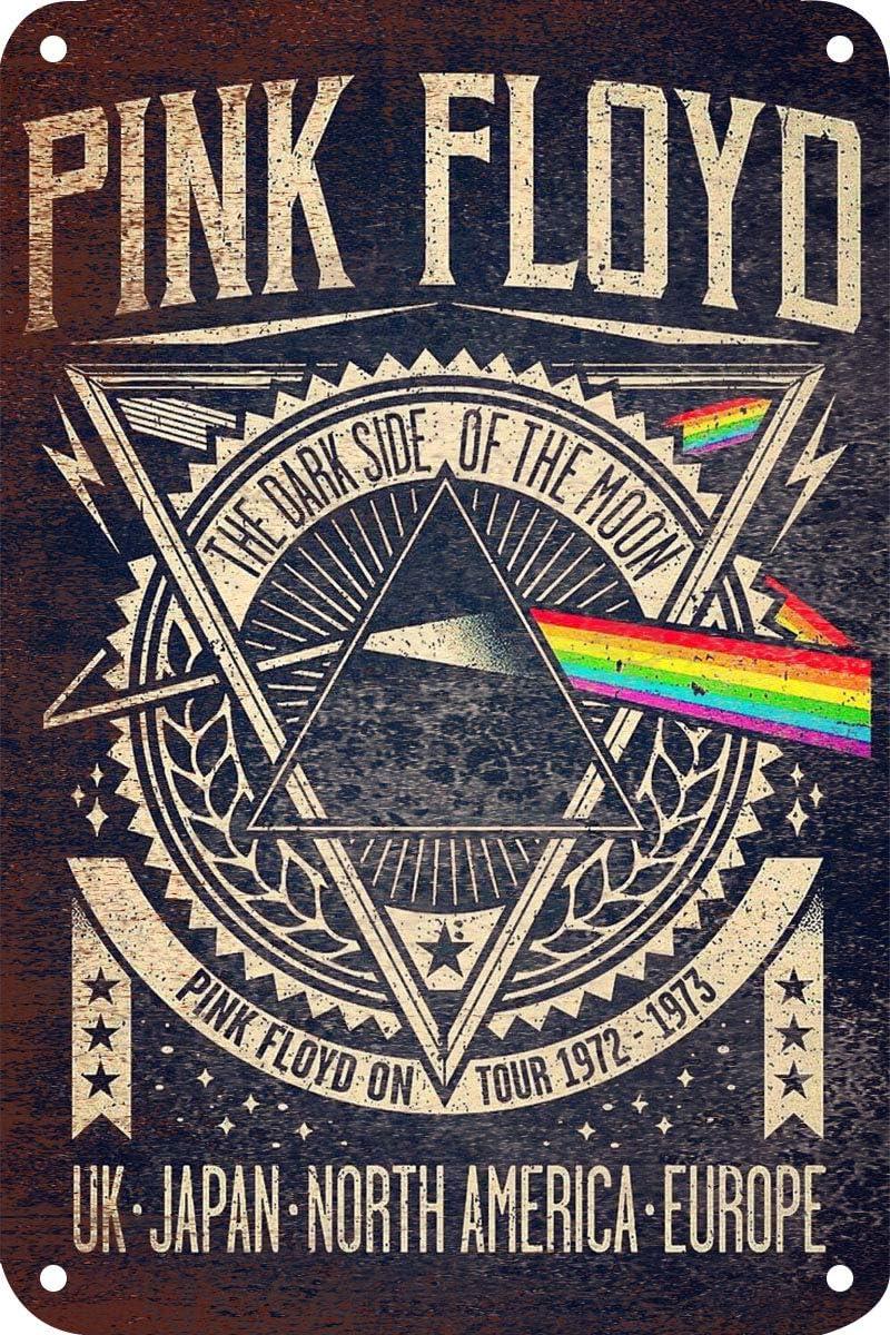 /école murale en aluminium Laurbri Pink Floyd Plaque en m/étal avec panneau davertissement pour chambre /à coucher