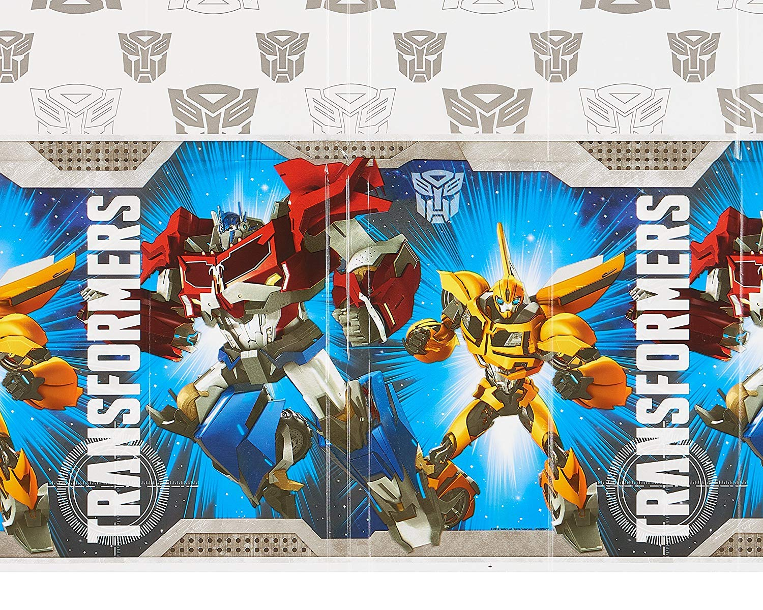 American Greetings Transformers Plastic Table Cover 54 X 96