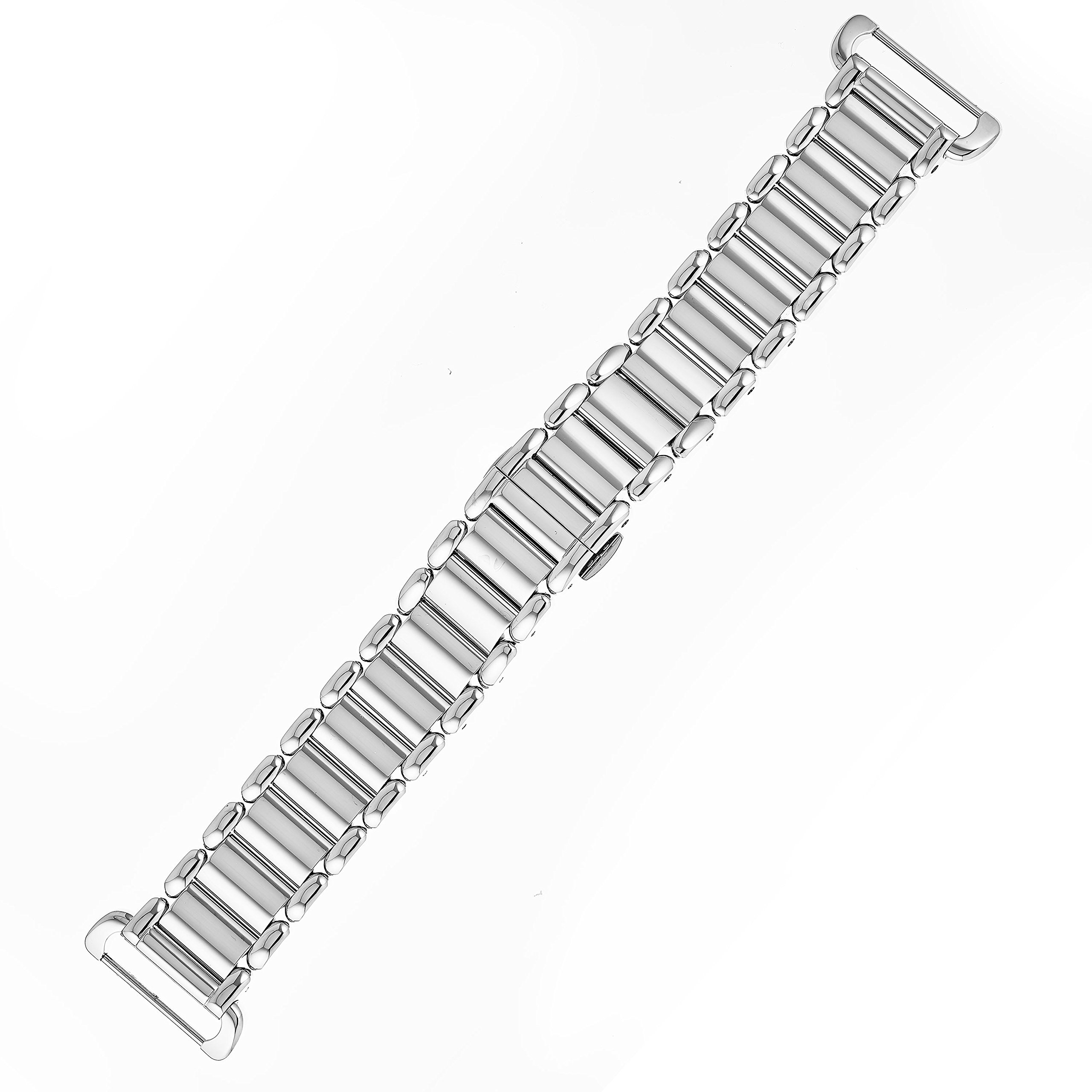 Fendi Selleria Interchangeable Replacement Watch Band - 18mm Stainless Steel Bracelet with Push Button Deployment Clasp BR8653