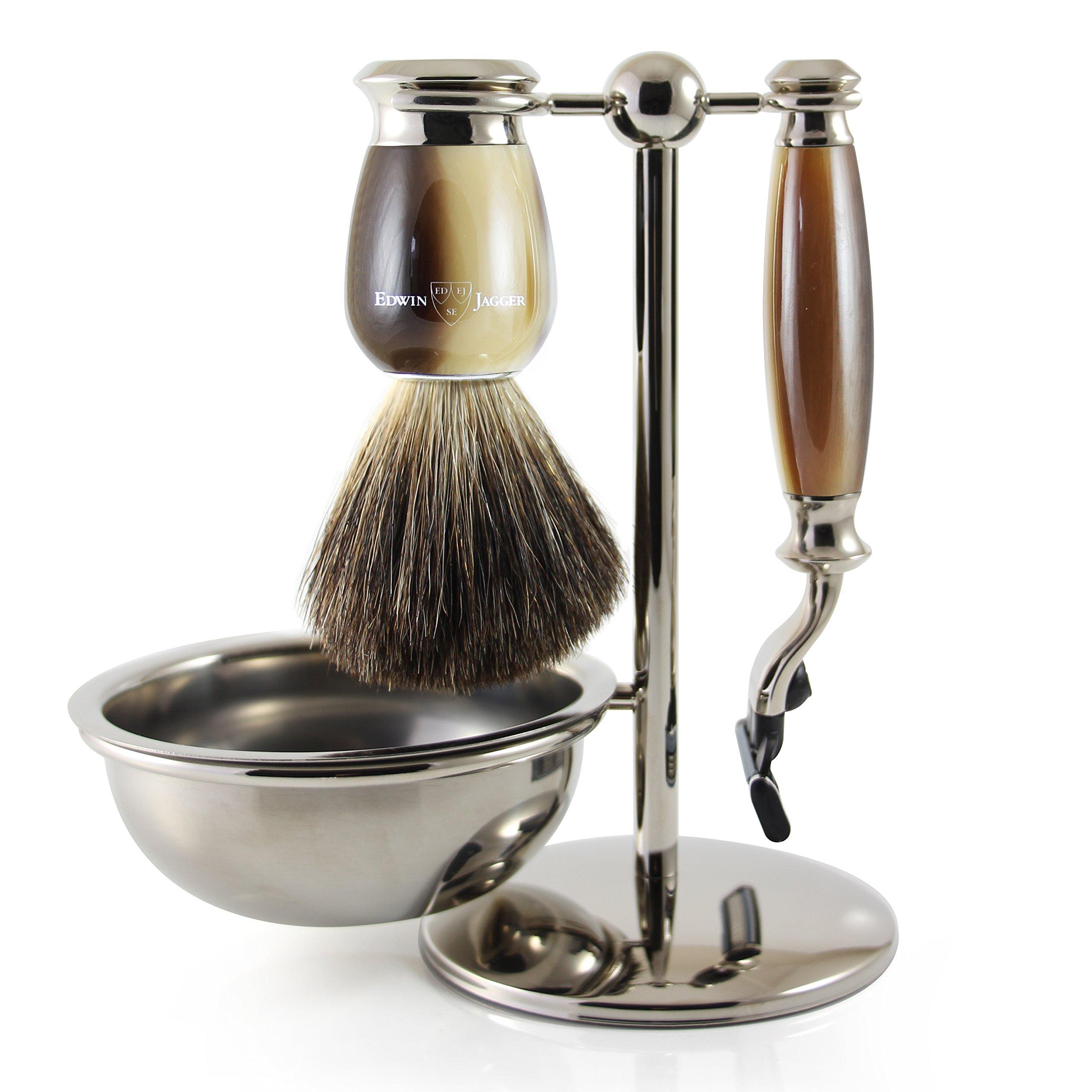 Edwin Jagger Shaving Gift Set, Light Horn by Edwin Jagger