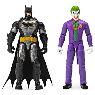 BATMAN, 4-Inch and The Joker Action Figures with 6 Mystery Accessories: Toys & Games