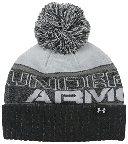 bca8e6f7388 Amazon.com  Under Armour Boys  UA Pom Beanie  Sports   Outdoors
