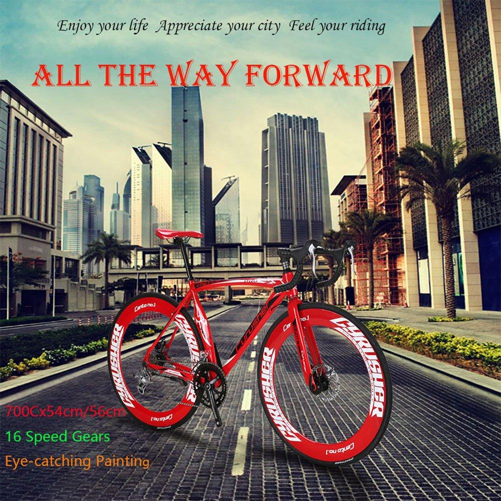 Bicicletas de carretera - Ciclismo Ruta - Speed Race Extrbici XC700 Ciudad / carretera de bicicletas 700C x 70 mm con 16 velocidades de aluminio de marco de ...