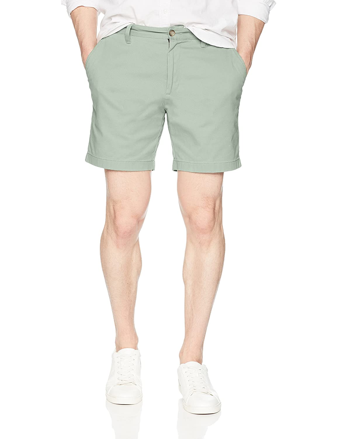 Nautica Men's Cotton Twill Flat Front Stretch Chino Short