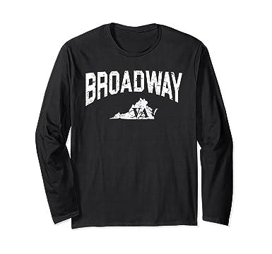 d2342441212 Amazon.com: Broadway, Virginia - Retro Vintage City Shirt: Clothing