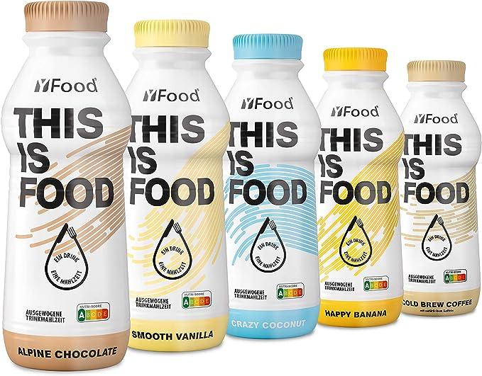 Pack de Degustación YFood | Sustituto de comida sin lactosa ni gluten | 34 g de proteínas, 26 vitaminas y minerales | pack con 5 diferentes sabores | ...