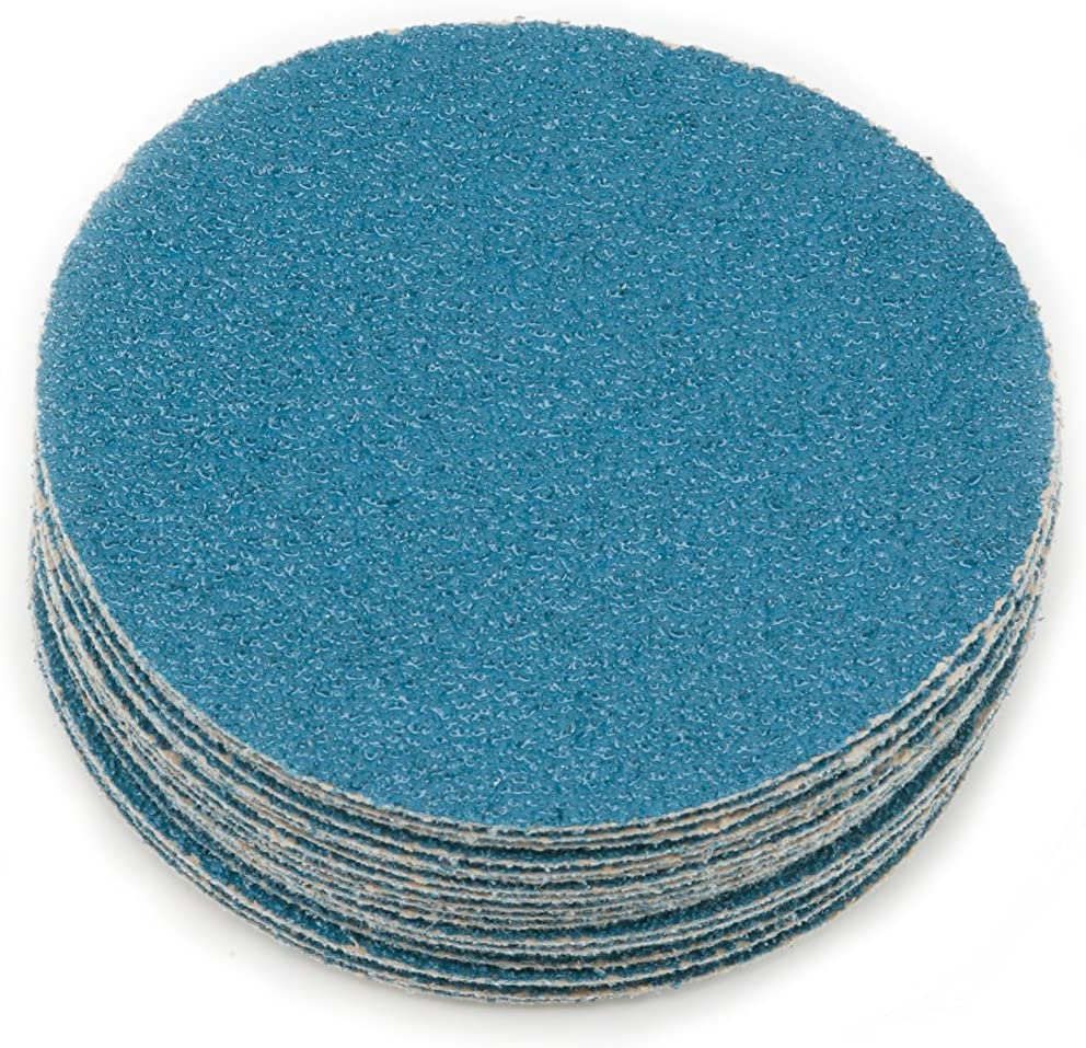 25 Pack 8 Sungold Abrasives Karebac 8hsz40 40 Grit Heavyweight Blue Zirconia PSA Sticky Discs