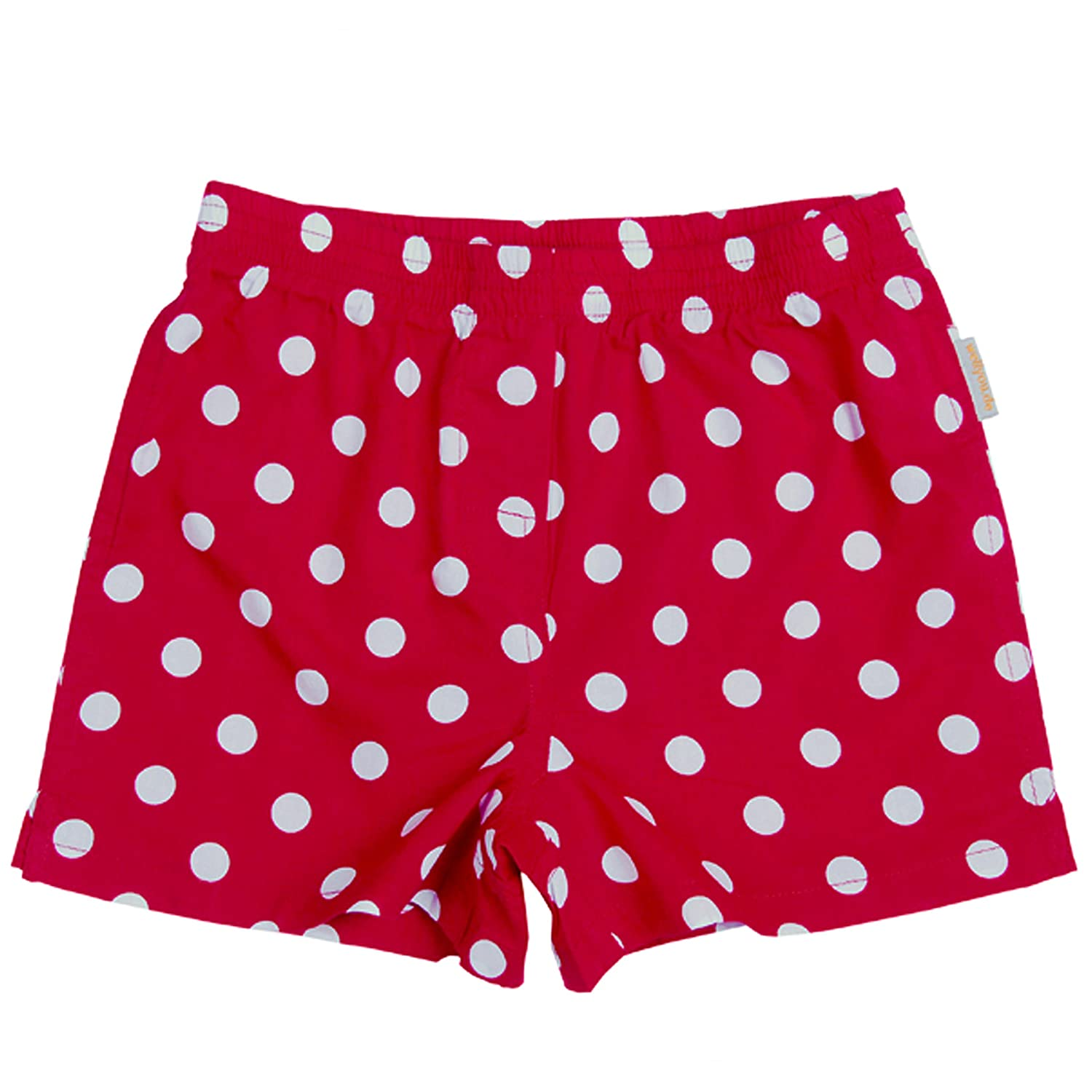 wellyou Kinder Boxershorts Tupfen rot/weiss