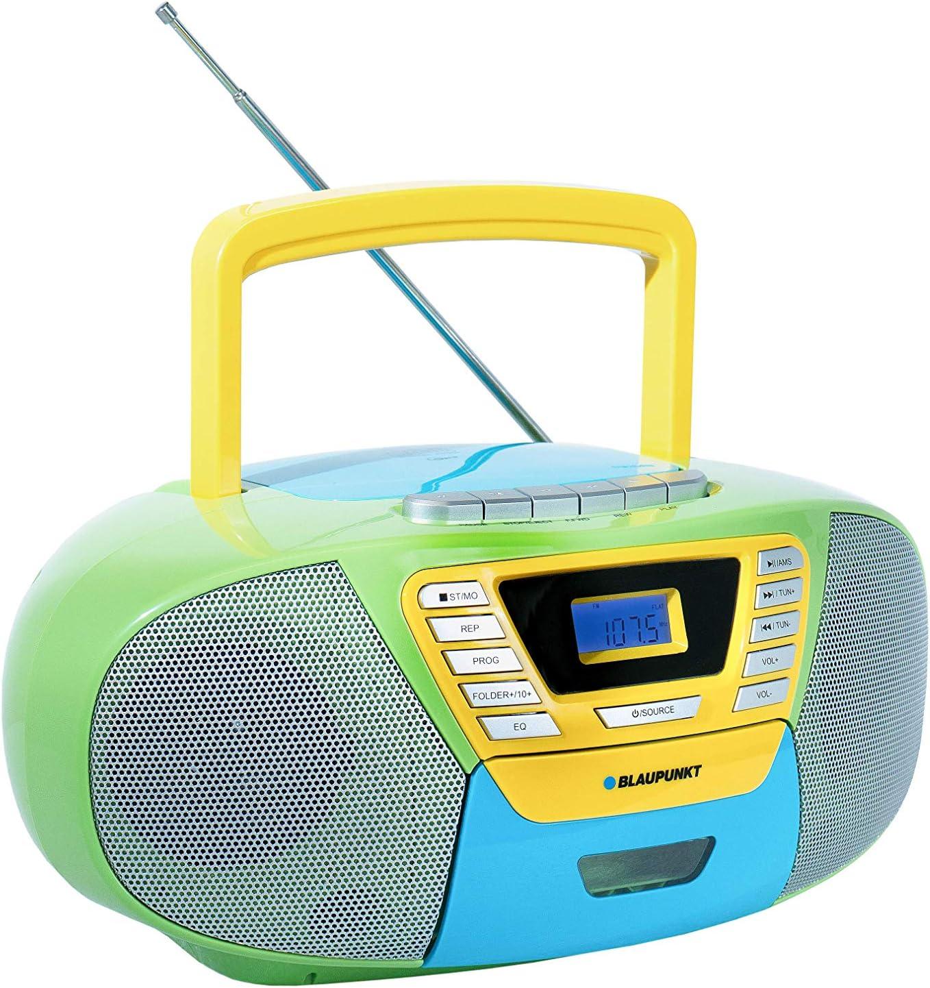 Blaupunkt B 120 Mc Tragbarer Kinder Cd Player Mit Bluetooth Kassettenrekorder Kinder Hörbuch Funktion Cd Player Mit Usb Kleines Cd Radio Aux In Pll Ukw Radio Radio