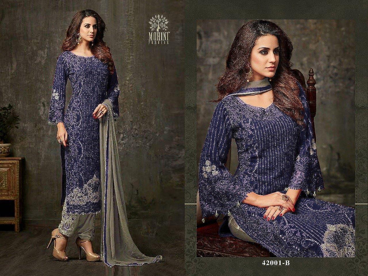 ziya Indian//Pakistani Ethnic wear Georgette Straight Salwar Kameez