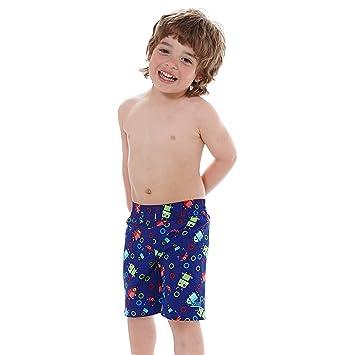 3467b637b8 Zoggs Boys' Fun Bots Water Swimming Shorts, Royal/Multi-Colour, 18 ...