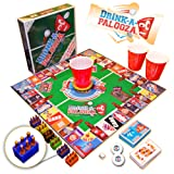 """DRINK-A-PALOOZA Board Game: combines """"old-school"""" + """"new-school"""" drinking games & adult games featuring Beer Pong, Flip Cup, Kings card game & all the best party games for adults"""