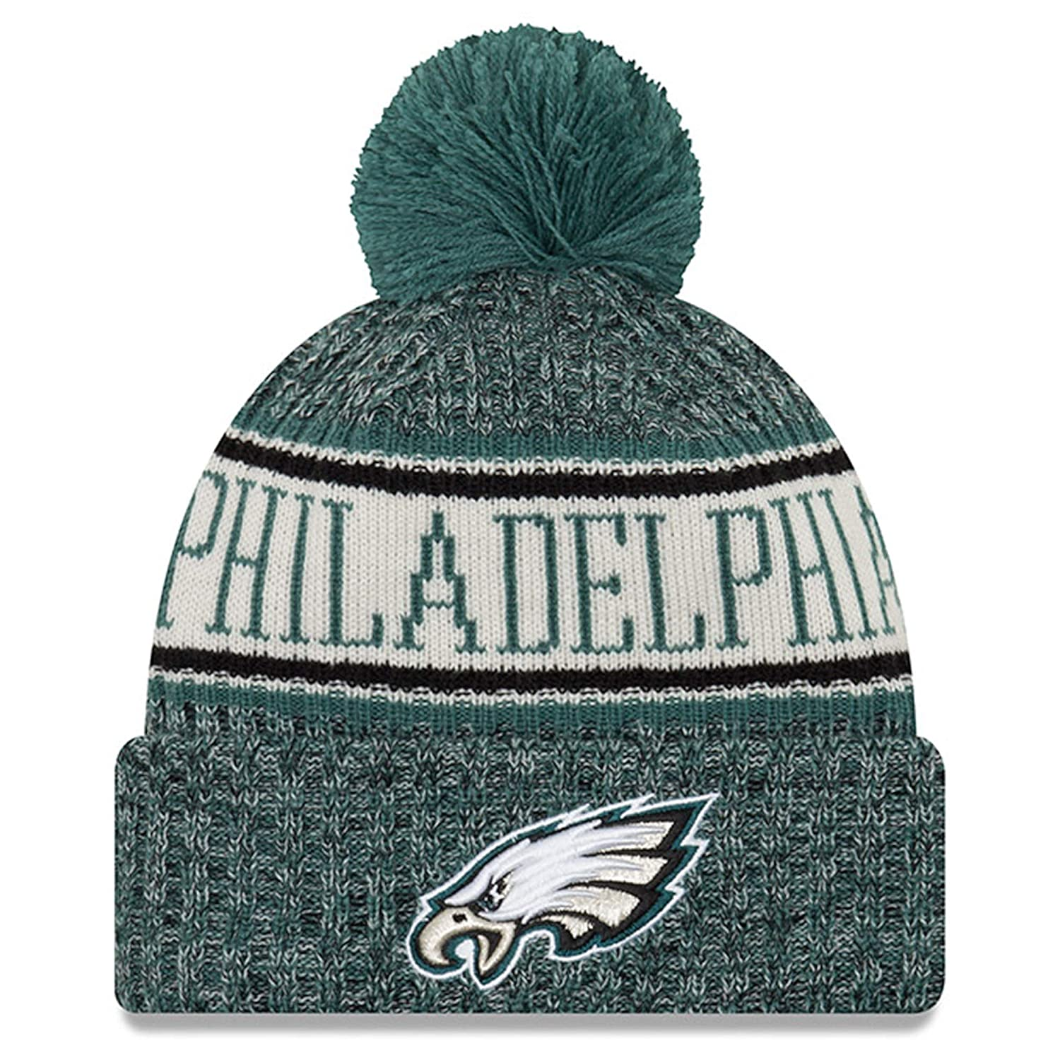 sneakers for cheap 03520 a5933 Amazon.com   New Era Youth Philadelphia Eagles Sport Knit NFL Beanie Black,  Jr.  Youth   Sports   Outdoors