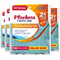 4-Pk Plackers Twin-line Dental Floss Picks