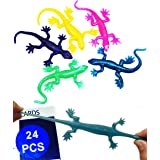 UpBrands Party Favors for Kids Stretchy Lizards Toys 6.5 cm, Bulk Set, Kit for Birthday, Goodie Bags, Easter Egg and Pinata F