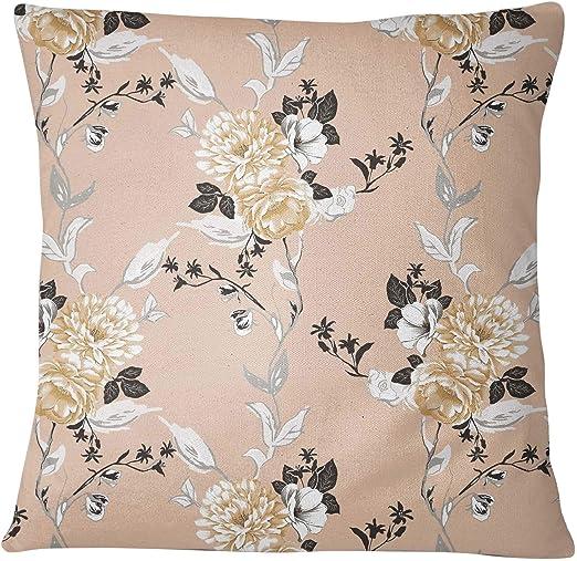 S4Sassy 2 Piezas de Algodon Cuadrado de Melocoton Funda de Almohada de Impresion Floral Cojin Decorativo Cojin-20 x 20 Pulgadas: Amazon.es: Hogar