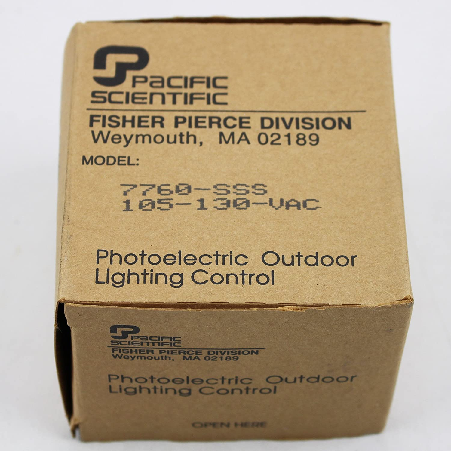 Pacific Scientific Photoelectric Outdoor Lighting Control Model # 7750-NSS