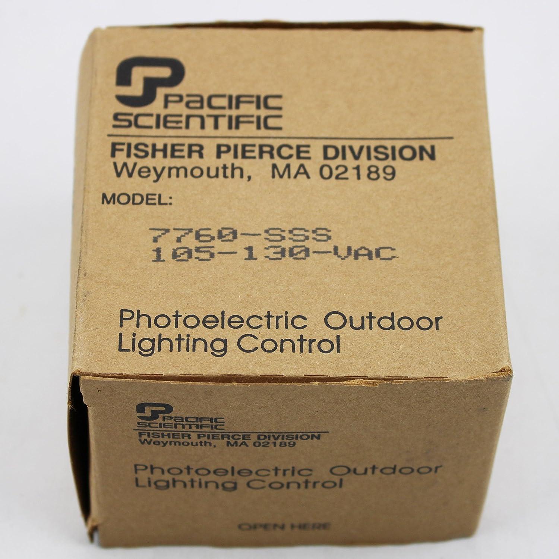 Fisher Pierce 7760 Sss Photoelectric Outdoor Lighting Control 105 Sensor For Lights 130 Vac Gray Industrial Scientific