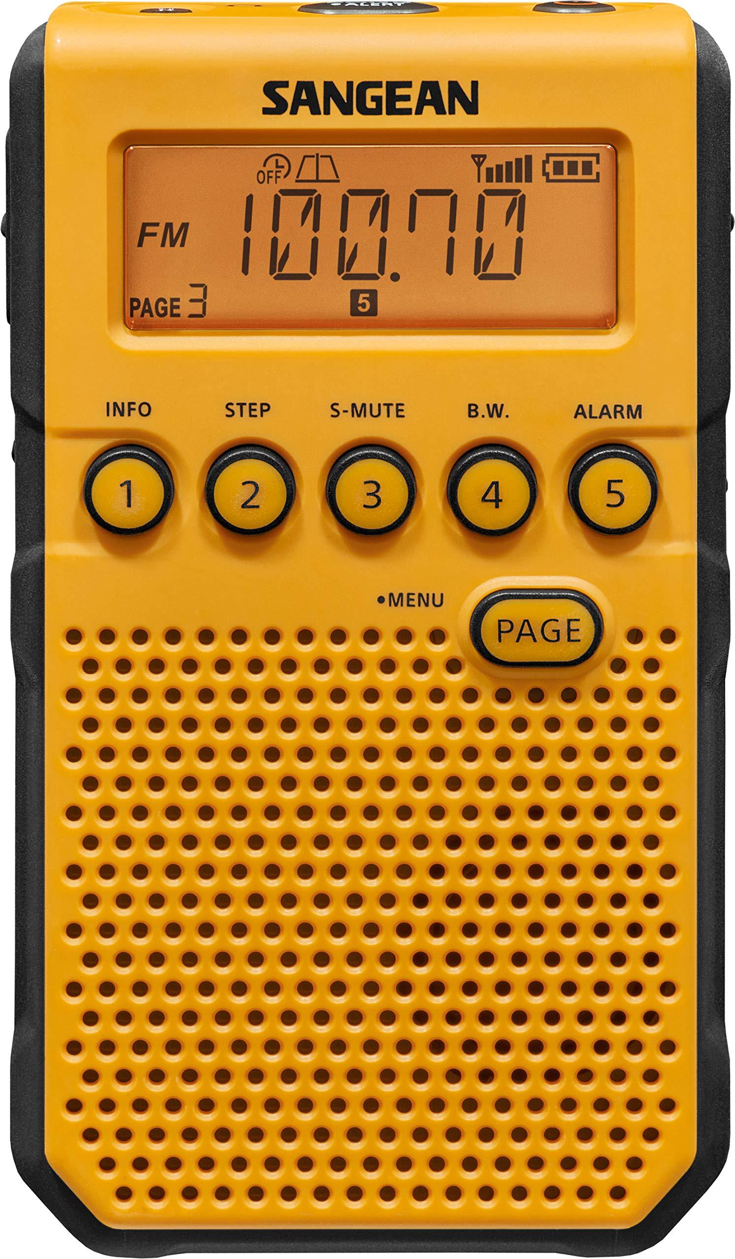 Sangean DT-800YL AM / FM / NOAA Weather Alert Rechargeable Pocket Radio (Yellow) by Saugeen America, Inc. (Image #1)