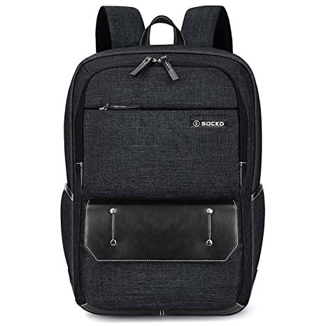 13afb81c8eb Laptop Backpack,SOCKO Stylish Water Resistant Travel Business Backpack for  Men   Women Durable Lightweight