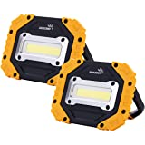 sunzone Portable LED Work Light, COB Flood Lights, Job Site Lighting, Super Bright Waterproof for Outdoor Camping Hiking…