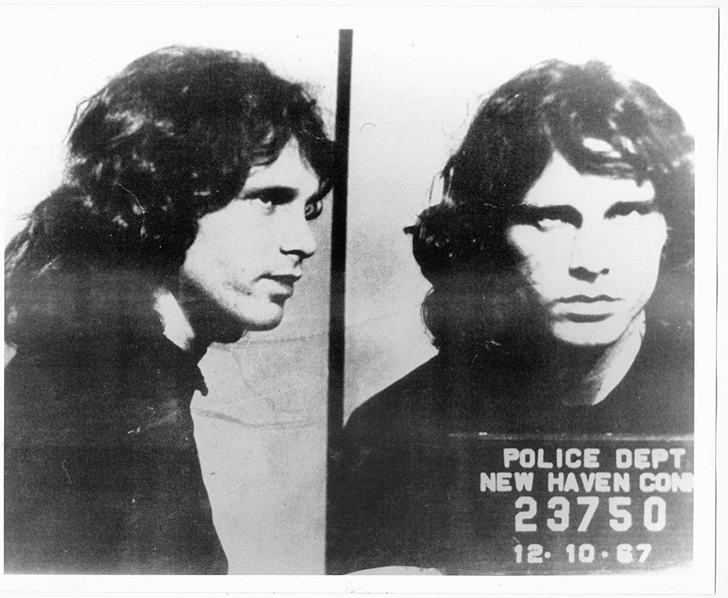 Amazon Com Jim Morrison Mug Shot Glossy Poster Picture Photo