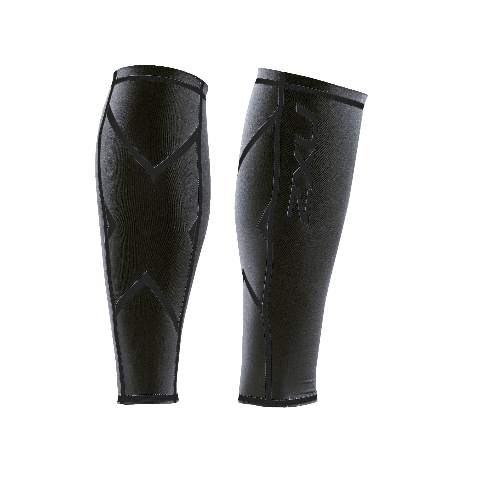 2XU Compression Calf Guards, Steel/Black