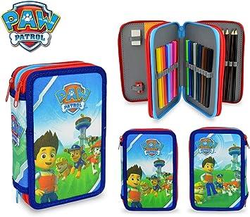 PA16109 Estuche escolar Patrulla Canina con 3 cremalleras y 43 piezas: Amazon.es: Juguetes y juegos