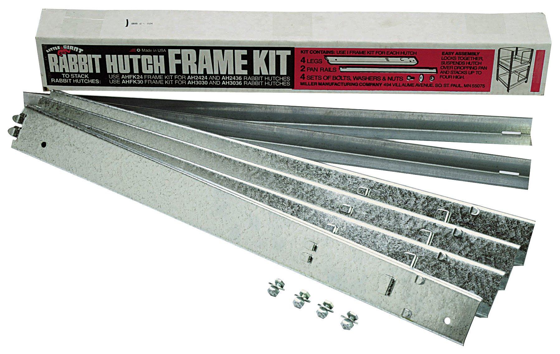 LITTLE GIANT AHFK24 Rabbit Hutch Frame Kit, 24'', Galvanized