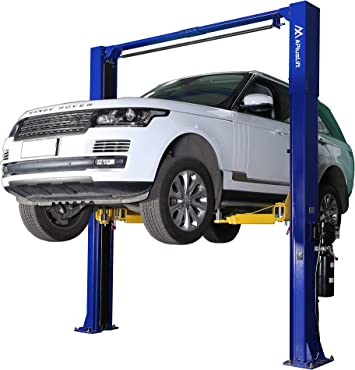 APlusLift HW-10KOH-A 10000LB Two Post Overhead Clear Floor Car Lift Auto Hoist with Combo (Symmetric and Asymmetric) Arms / 24 Months Parts Warranty