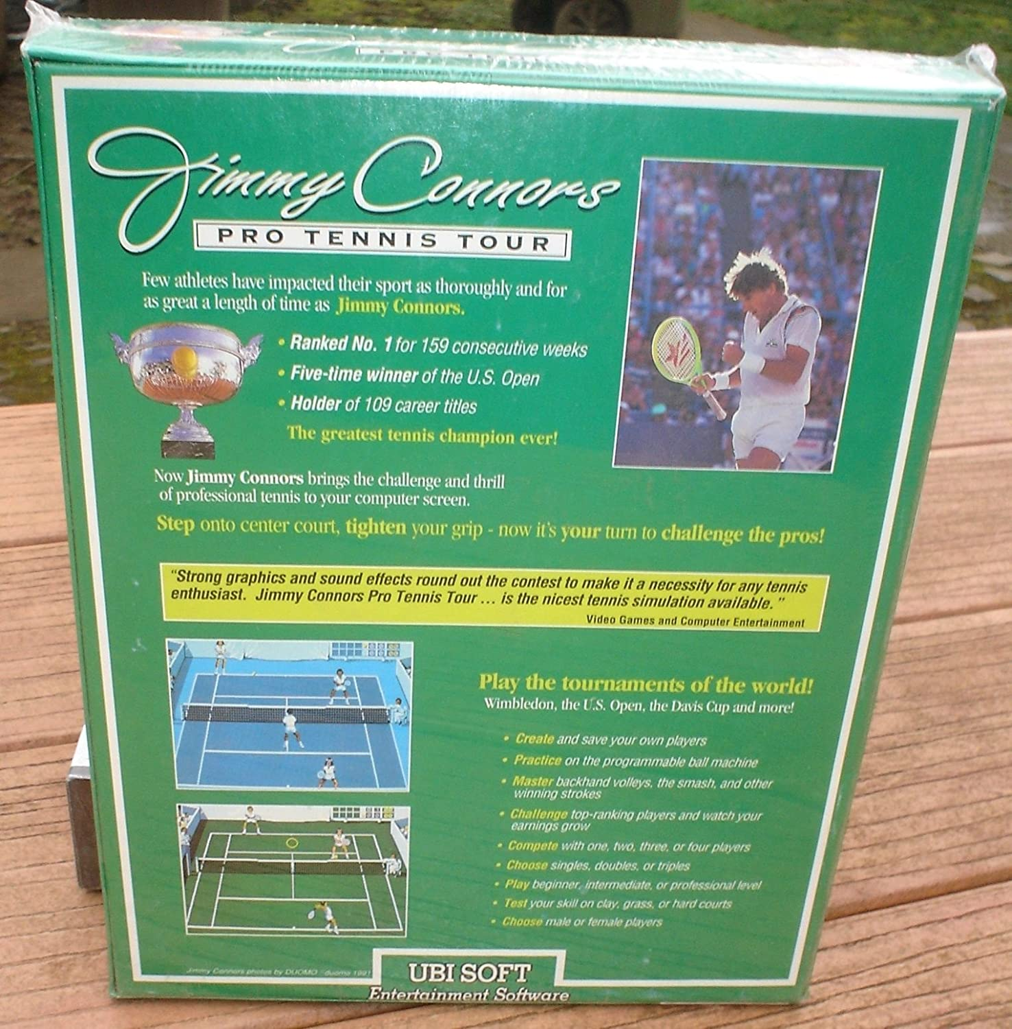 Jimmy Connors Pro Tennis Tour (For IBM 3.5