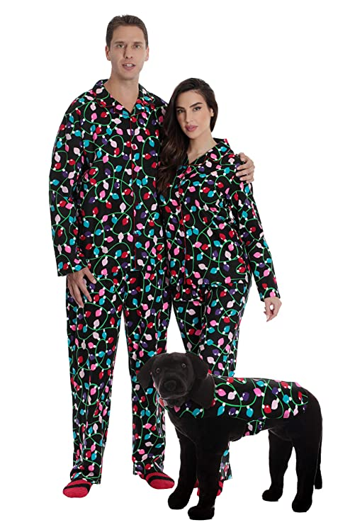 #followme Printed Flannel Family Pajamas - Mens 6745-10122-L best Christmas pajamas for families