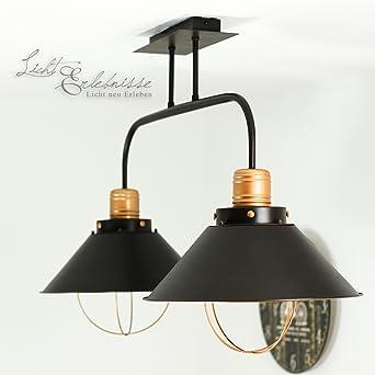 XL Vintage Deckenleuchte Deckenlampe / hergestellt in der EU / für ...
