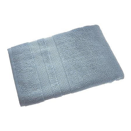 iDesign SPA baño, algodón Grande con Cenefa entretejida, Suave ...