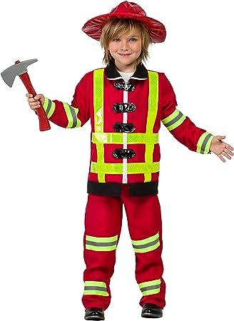 Disfraz Bombero (7-9 AÑOS): Amazon.es: Juguetes y juegos