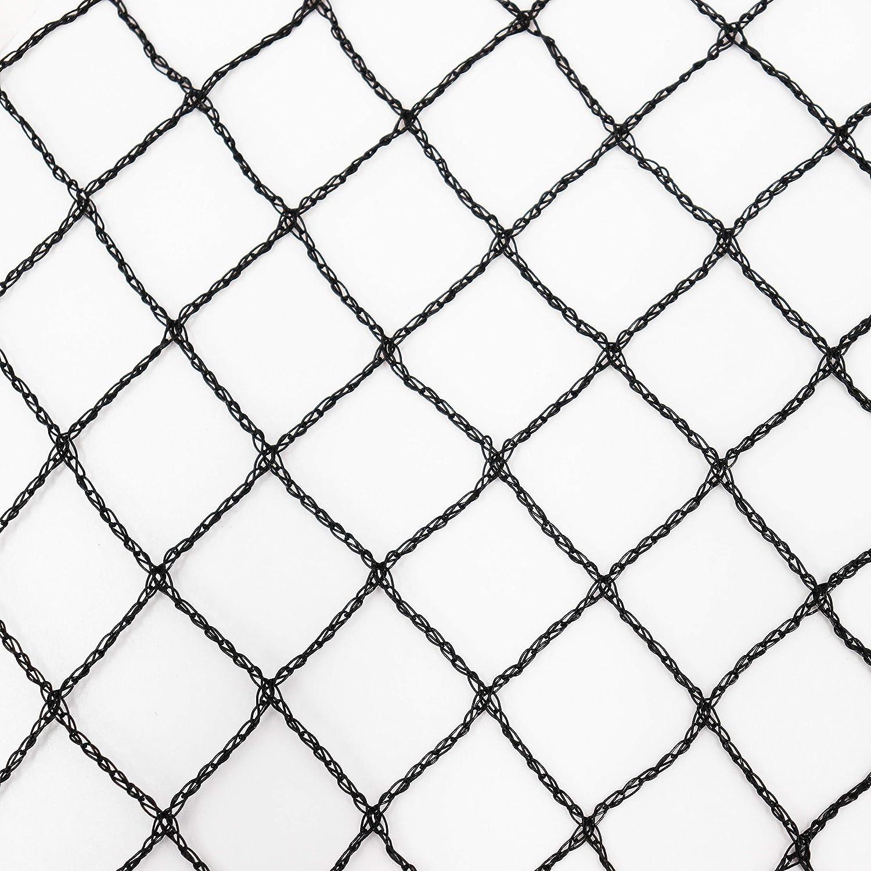 rete per foglie di frutta a maglie sottili rete per laghetti pesci 20 x 20 mm protezione dagli uccelli colore nero Aquagart/® rete per aiuole stabile 20 m x 12 m Rete per laghetto