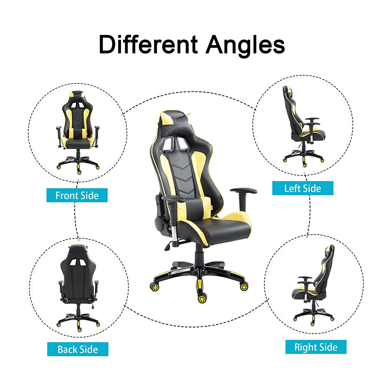 Amazon Cloud Mountain Gaming Chair Swivel Chair Racing Chair Ergonomic High Back puter Desk Chair with Headrest and Lumbar Support Pillow