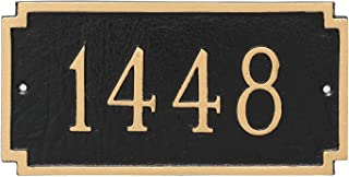 "product image for Montague Metal Madison Petite Address Sign Plaque, 4"" x 7.75"", White/Gold"