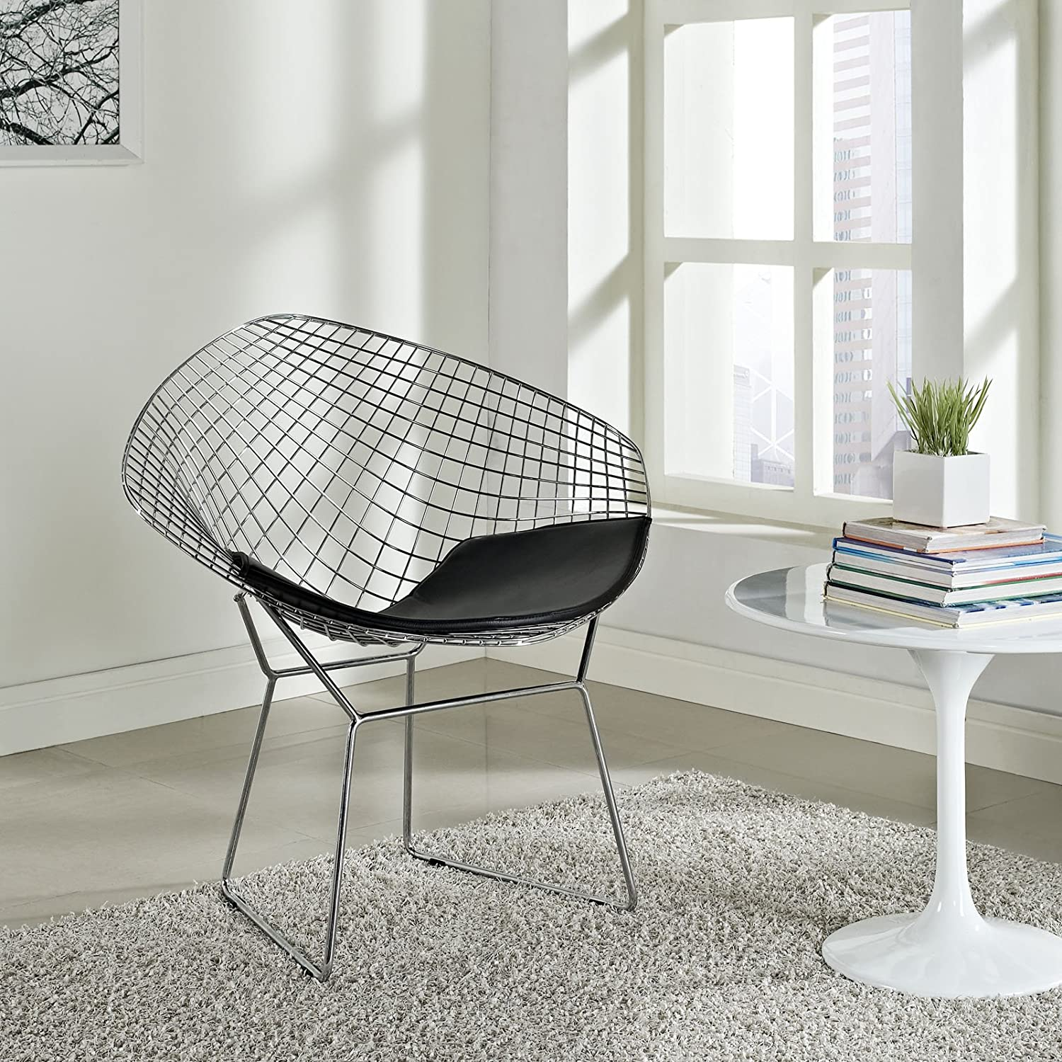 Amazon Modway Bertoia Style Diamond Chair Chairs