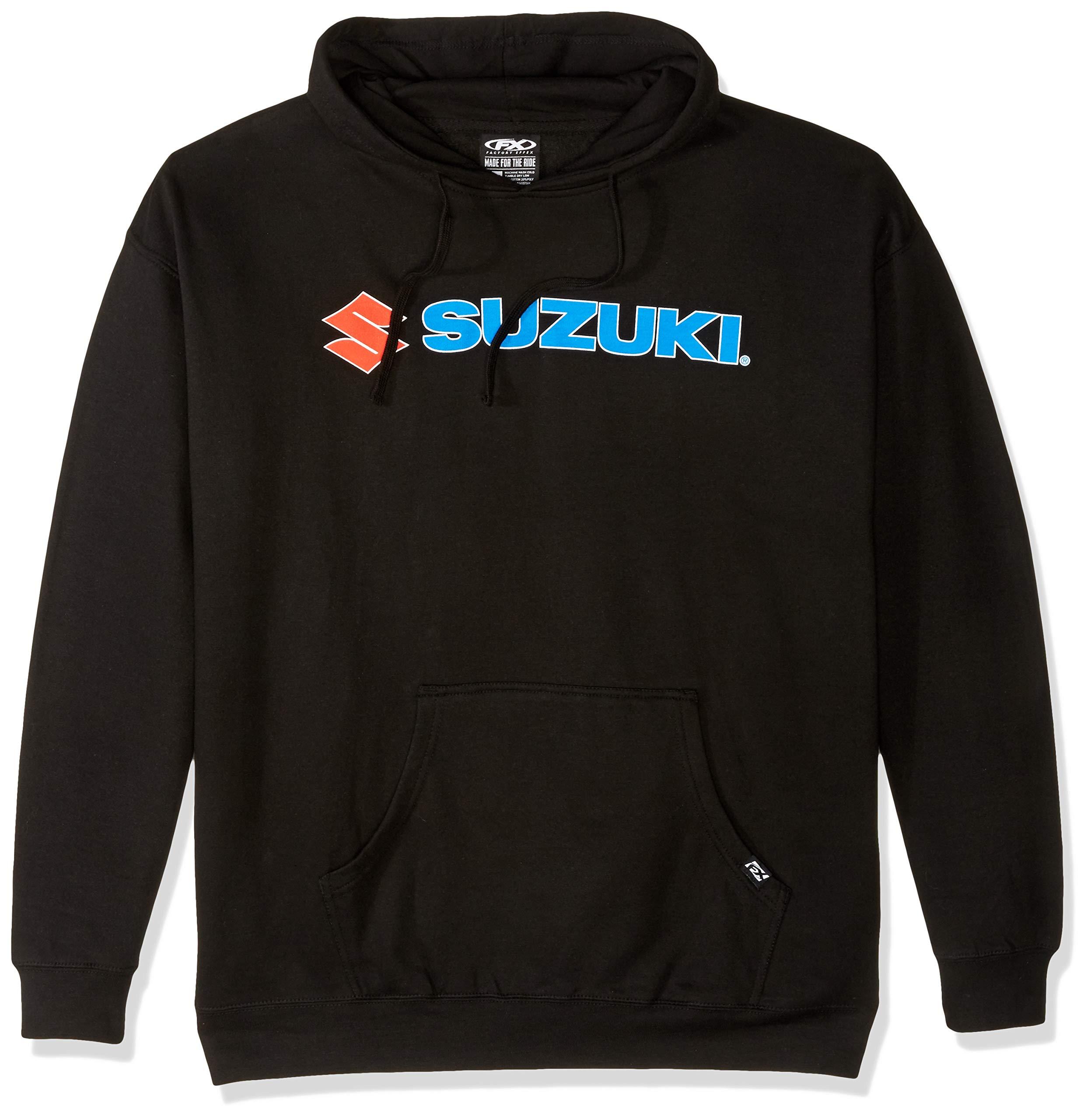 Factory Effex 15-88406 'Suzuki' Hooded Pull-over Sweatshirt (Black, XX-Large)