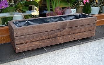 jardinera de madera de palisandro d forma de cubo para o terraza