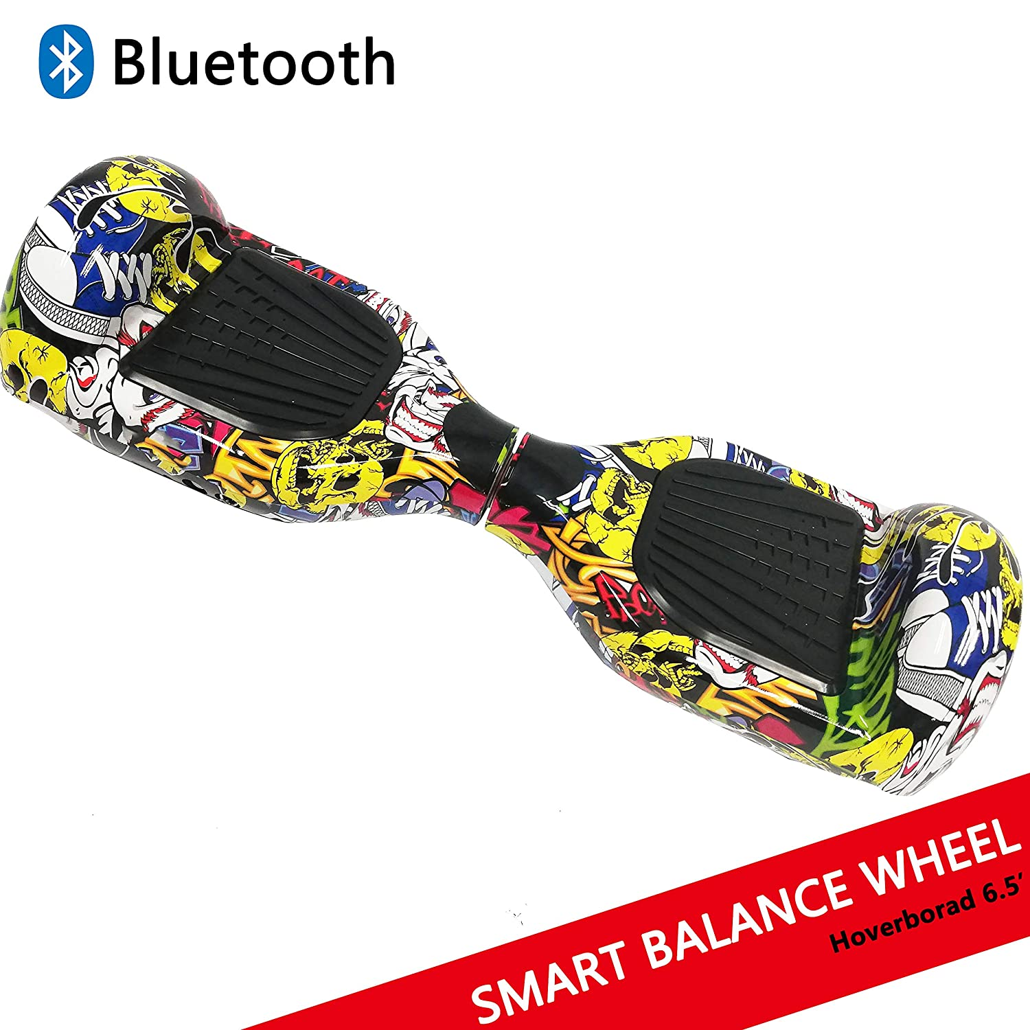 "Dragon Hoverboard con Ruedas de 6.5"" Scooter eléctrico Self-Balancing Self Blance Scooter Monopatín eléctrico Smart Self Balance Board Dibujo en Color (Hip-Hop)"